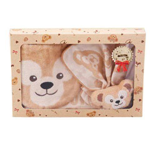 東京迪士尼海洋 Duffy/ShellieMay嬰兒圍兜鈴鐺玩具紗布手帕禮盒