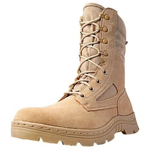 "Ridge Tactical Boots Men Dura-Max Desert Zip 8"" Shaft   3105 0"