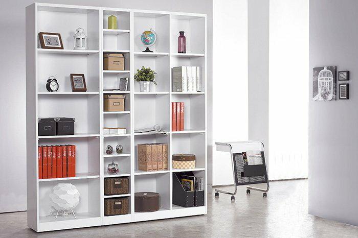 ~尚品傢俱~JF~330~4 芬蘭1X7尺白色開放書櫃 ~  好康折扣