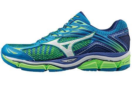 J1GC161101(藍X綠)一般型全腳掌吸震波浪片 WAVE ENIGMA 6 男慢跑鞋 S【美津濃MIZUNO】 0