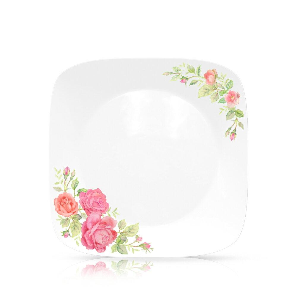 【美國康寧 CORELLE】薔薇之戀6吋方盤