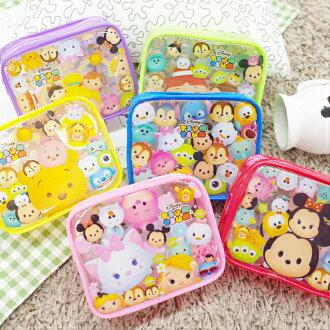 PGS7 日本迪士尼系列商品 - 日本 迪士尼 TSUM TSUM 透明包 收納包 六色可選【SIK7367】