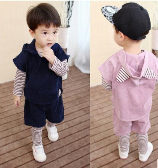 韓系童裝秋裝長袖四件套 内衣可當居家服**預購**