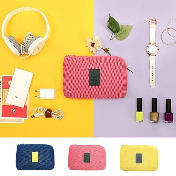 Life365:韓版小飛機收納網格袋(大)數位收納包旅行行動電源收納包傳輸線手機化妝包零錢包【RB385】