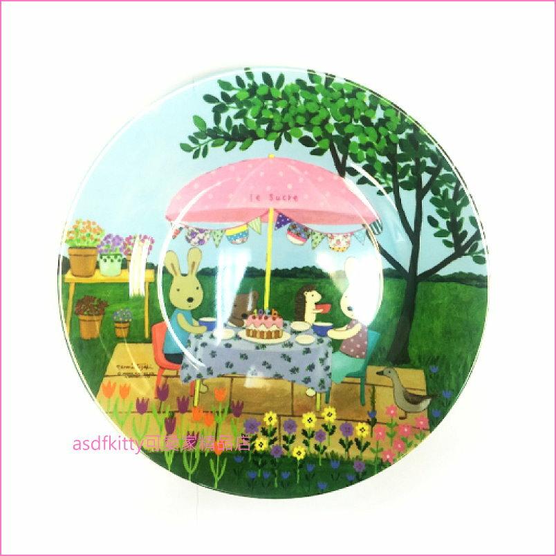 asdfkitty可愛家☆Le sucre法國兔10週年大淺盤/點心盤/水果盤-日本正版商品