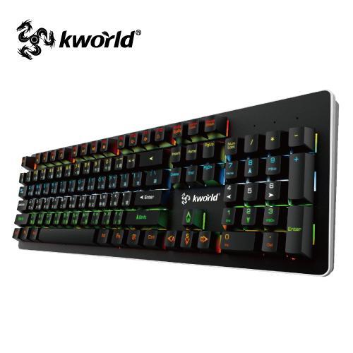鍵盤廣寰C400電競機械鍵盤星際幻彩版機械式鍵盤電競鍵盤
