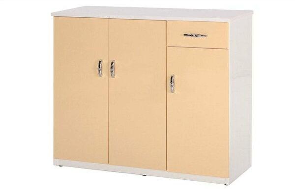 【石川家居】866-05(鵝黃白色)鞋櫃(CT-318)#訂製預購款式#環保塑鋼P無毒防霉易清潔