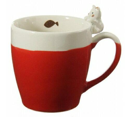 【預購】日本製療癒系- 小貓偷喵馬克杯 紅色 0