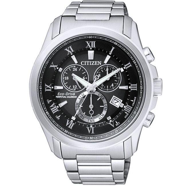 CITIZEN星辰BL5540-53E都會萬年曆光動能腕錶/黑面43mm