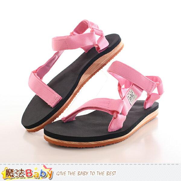 女鞋 織帶休閒涼鞋 魔法Baby~sd0249