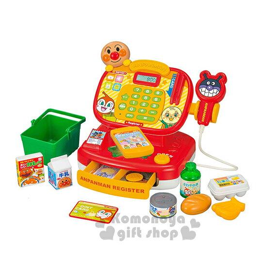 〔小禮堂嬰幼館〕麵包超人 超市收銀機玩具組《紅黃.朋友.橘黃盒裝》增添親子間的親密度