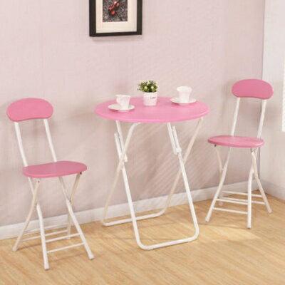 小圓桌 陽台小桌椅 休閒可折疊簡約便攜餐桌擺攤桌家用吃飯桌小戶型圓桌『XY3504』