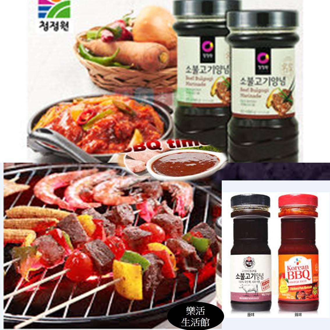 韓式頂級水梨蘋果燒醃烤醬 烤肉醬 燒肉醬 - 原味/辣味 * 1 罐 (CJ&韓式大象兩品牌隨機出貨) 【樂活生活館】