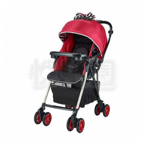 Merissa 美瑞莎 UNO-4XW 全時四輪鎖放嬰兒手推車-條紋紅【悅兒園婦幼生活館】