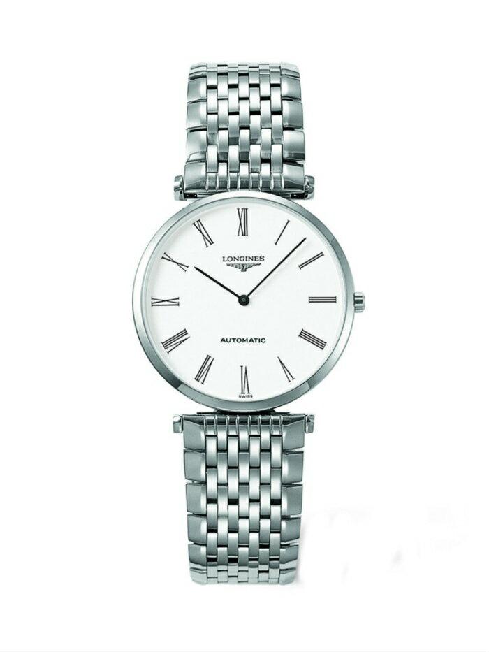 LONGINES L47084116嘉嵐機械超薄優雅腕錶/白面33mm