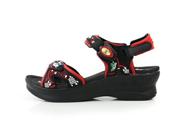 G.P 涼鞋 黑紅 女款 no620 6