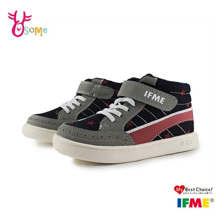 IFME Light輕盈系列 中童 季節系列 高筒 休閒鞋 P7682#紅藍◆OSOME奧森鞋業