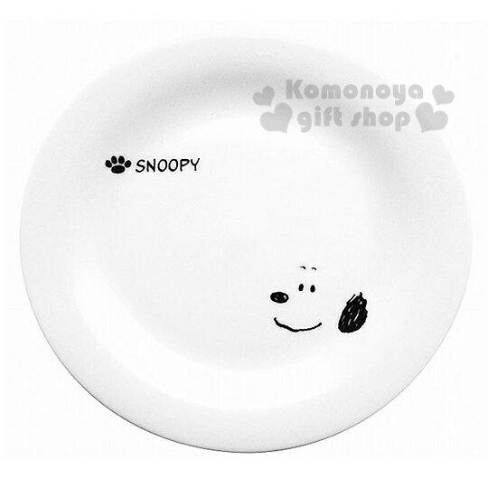 〔小禮堂〕史努比 日製陶瓷蛋糕盤《白.大臉.腳掌》日本金正陶器