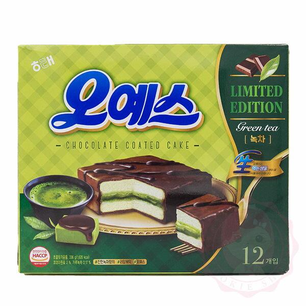 韓國 HAITAI 海太抹茶巧克力蛋糕 (12包入)【庫奇小舖】