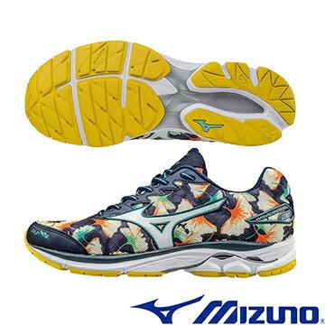 J1GC170801(銀杏X銀白) OSAKA 馬拉松紀念鞋款 WAVE RIDER 20 男慢跑鞋Q【美津濃MIZUNO】