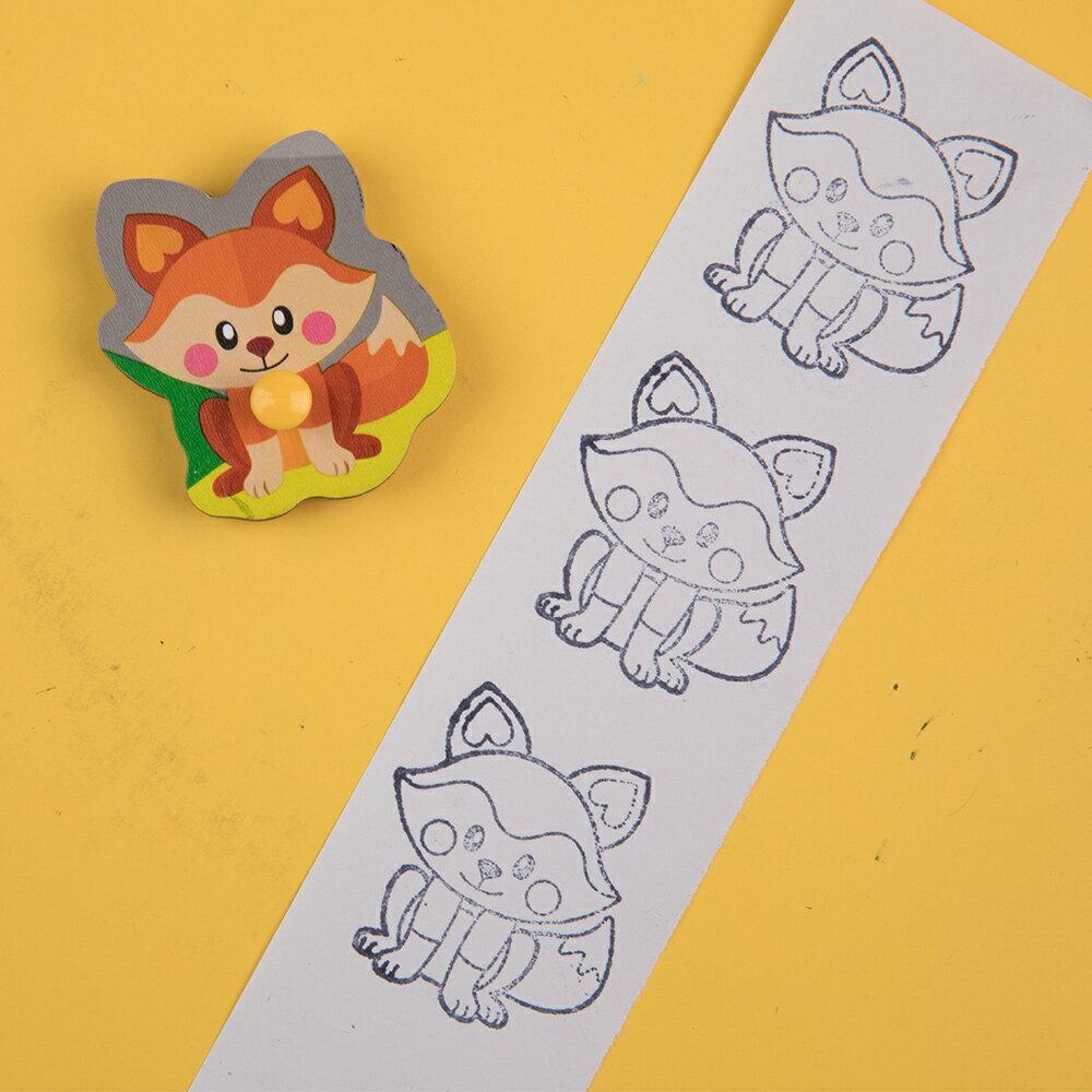 Crayola 早教創意啟蒙趣味蓋印塗鴉字母木拼圖 - 森林派對 1
