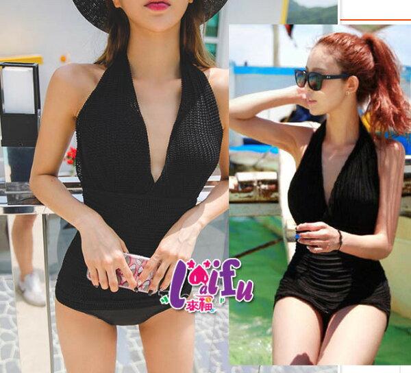 來福泳衣,C742泳衣超低胸針織滑面設計連身泳衣游泳衣泳裝比基尼正品,售價880元