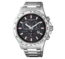 Citizen 星辰 Eco-Drive 霸氣王者三眼計時運動腕錶 黑面 AT2420-83E 42mm