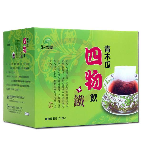 港香蘭 青木瓜四物飲+鐵(20包/盒)x1