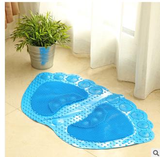 浴室防滑墊 可愛腳丫三角地墊 PV C舒適墊 浴室衛生間地毯