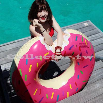【C16062101】咬一口甜甜圈游泳圈 成人 充氣浮圈救生圈加大加厚泳圈 -90cm