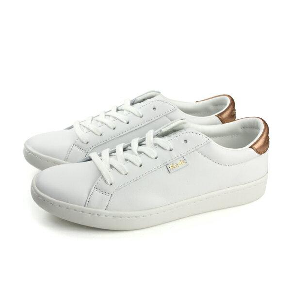 HUMAN PEACE:KedsACELTHRMETALLICHEEL休閒皮質白色女鞋9181W132402no270