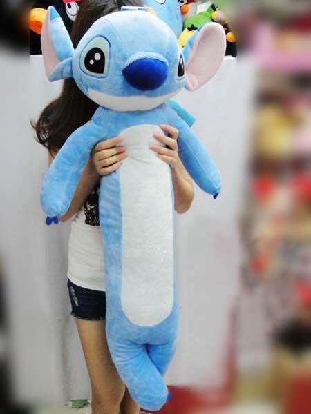 =優 =迪士尼星際寶貝史迪奇圓柱抱枕長條毛絨玩具送女友生日 100公分大娃娃