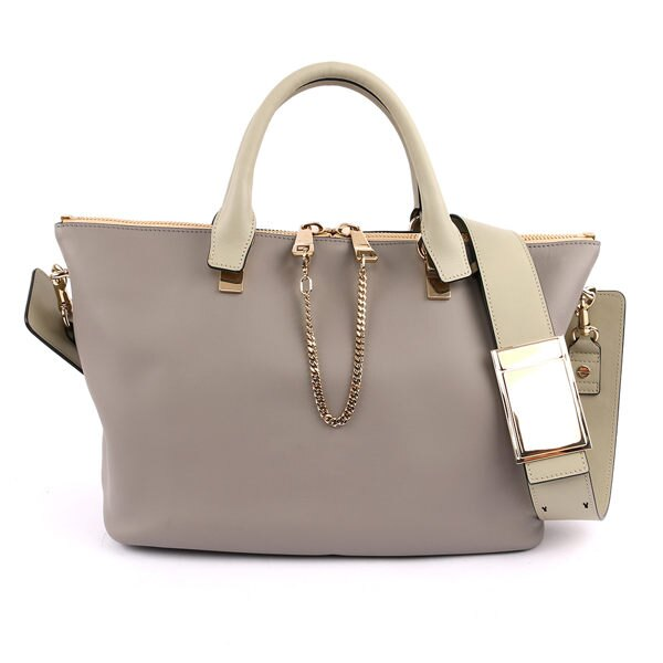 【CHLOE】Baylee Small two-tone tote 小牛皮 (羊毛灰色) 3S0169 882 06T