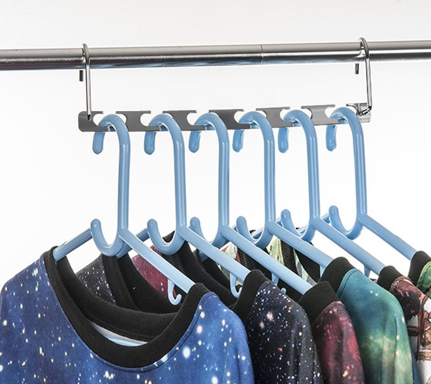 Metal Magic Clothes Closet Hangers Clothing Organizer 0