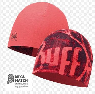 【【蘋果戶外】】BF111505西班牙BUFFcoolmax火焰紅coolmax抗UV快乾雙面帽登山單車