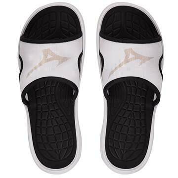 11GJ156001(白X銀)RELAX SLIDE 運動拖鞋 A【美津濃MIZUNO】