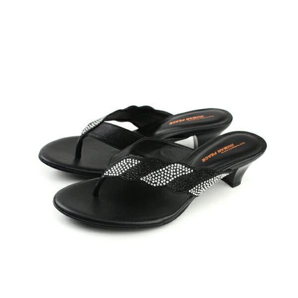 HUMAN PEACE 高跟涼鞋 黑色 女鞋 no021