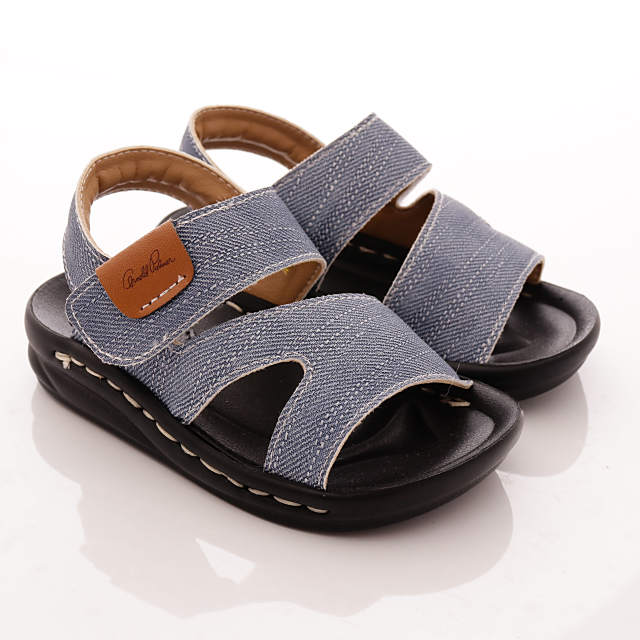 ⚇零碼⚇雨傘Arnold Palmer童鞋-單寧風寶寶涼鞋款-873208藍(寶寶段)