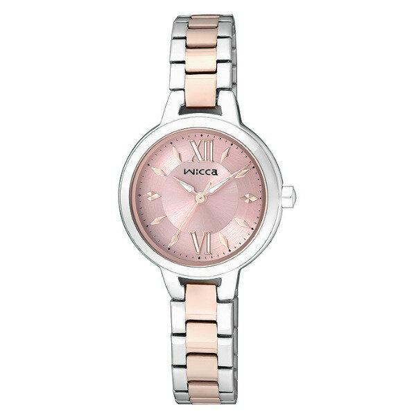 CITIZEN星辰WICCA(BG3-732-91)雙色玫瑰金典雅時尚腕錶/粉紅面26mm