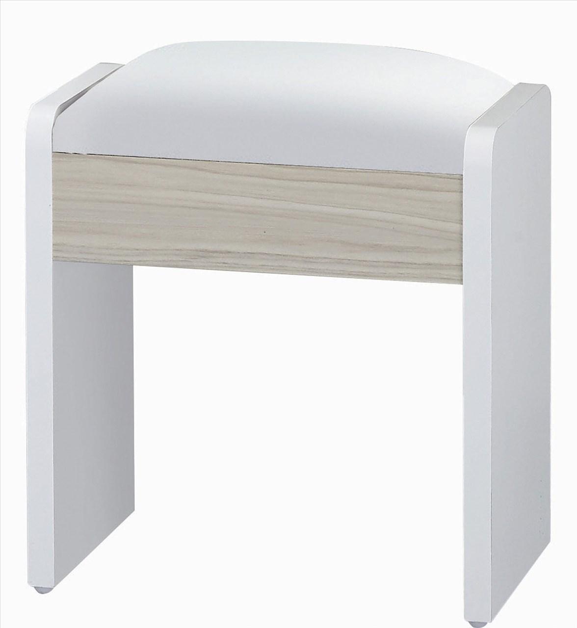 【石川家居】GD-477-4 艾美爾系統_鐵杉白 化妝椅(單)(不含其他商品) 台中以北搭配車趟免運
