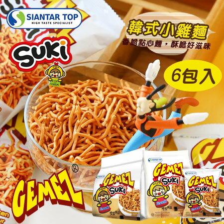 韓國GEMEZSUKI韓式小雞麵(6入裝)180g小雞麵點心麵點心脆麵【N600123】
