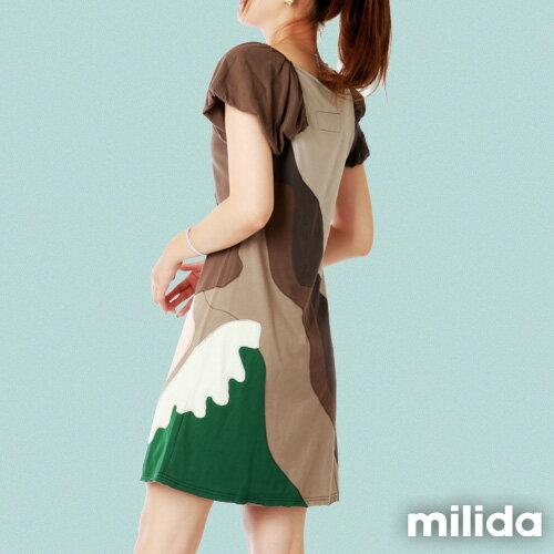 【Milida,全店七折免運】-斜領氣質經典款洋裝 1