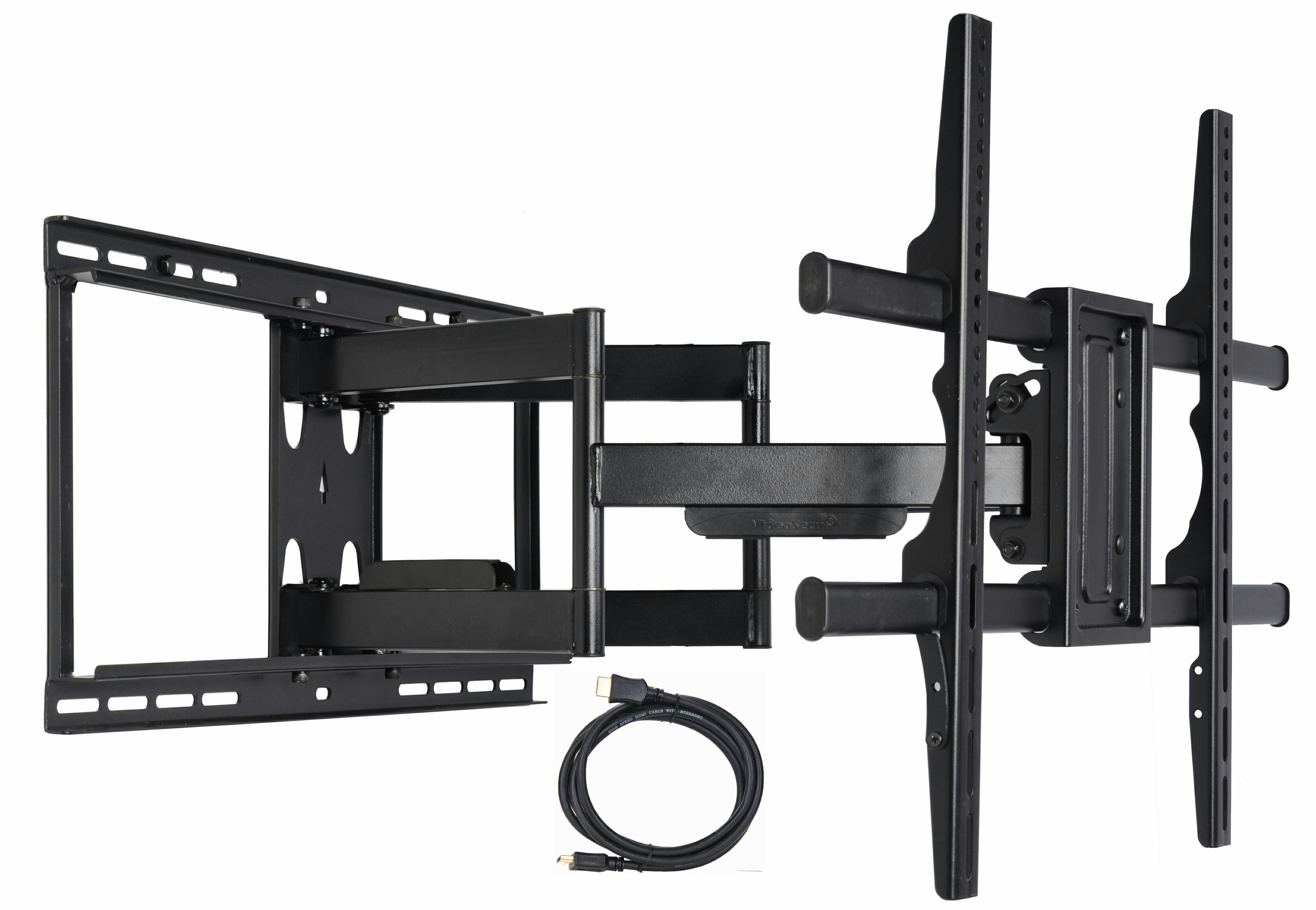 digiair videosecu articulating full motion tv wall mount for samsung 49 55 58 60 65 70 75 82. Black Bedroom Furniture Sets. Home Design Ideas