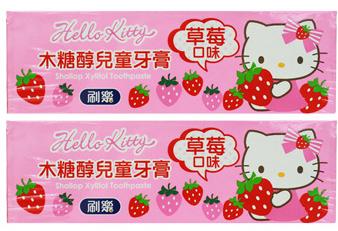 刷樂木糖醇兒童牙膏2入(Hello Kitty草莓)