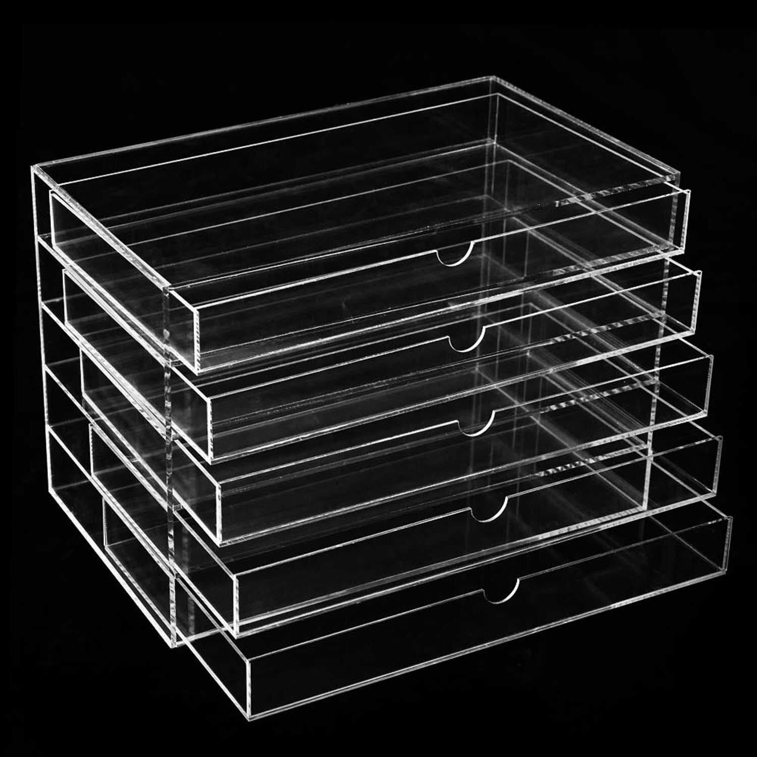 Cosmetic Jewelry Organizer 5 Drawer acrylic Display Box Storage 4
