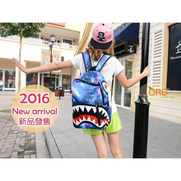 ORG《SG0148》促銷!搞怪~大牙 大嘴巴 星空款 雙肩包 後背包 雙肩背包 書包 旅行袋 背包 學院風 旅行 旅遊