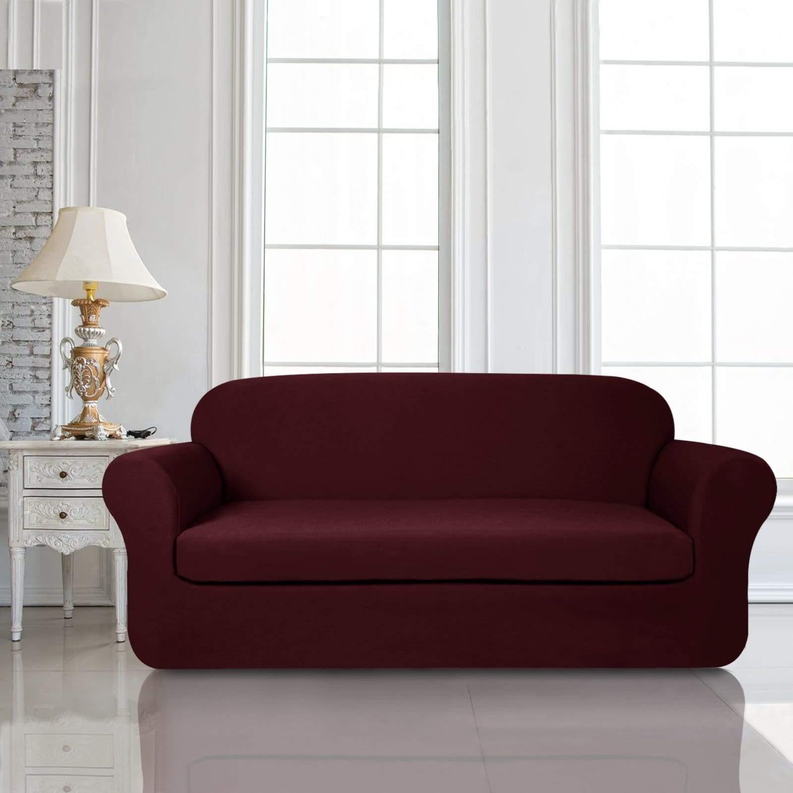 Subrtex Subrtex 2 Piece Square Knit Stretch Sofa