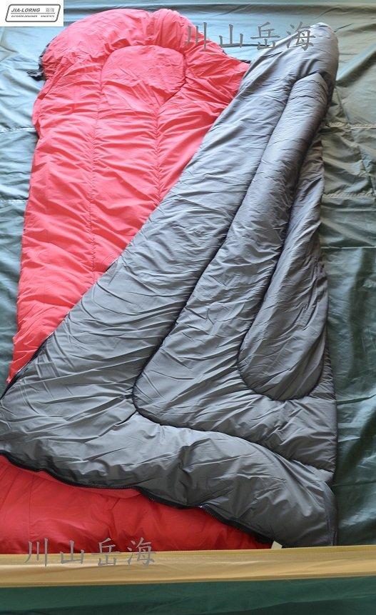 [ JIA LORNG 嘉隆 ] 配色保暖睡袋 紅 / 法蘭絨睡袋 / 1kg中空纖維 / 內裡法蘭絨布 / BD-013