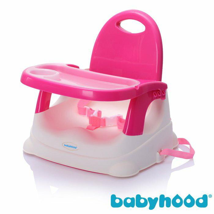 傳佳知寶 babyhood 咕咕餐椅-玫紅 (附透明餐盤)『121婦嬰用品館』 - 限時優惠好康折扣