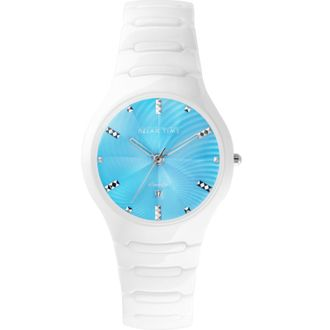 Relax Time RT-26-26 糖果系列白陶瓷腕錶/藍面36.6mm